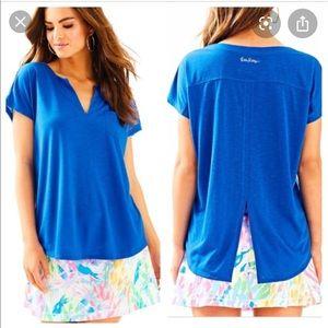 Lily Pulitzer Luxletix T shirt - royal blue - M